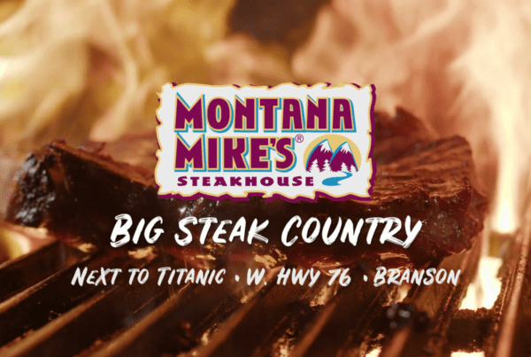 Montana Mike's Steakhouse TV food and beverage ad produced by Digital Lunchbox, a video production company serving Springfield, Branson and Missouri.